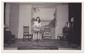 Kinloch Players, Stage set, 1950